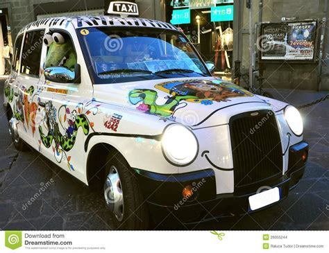 taxi  florence city italy editorial stock image image