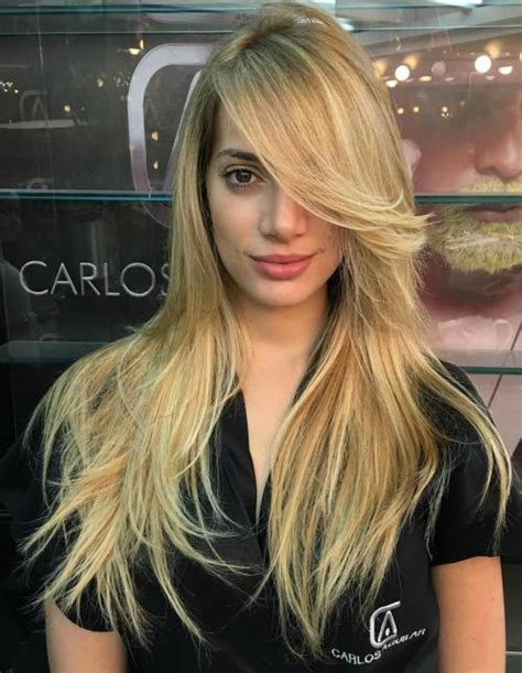long hairstyles with side bangs 50 cute long layered haircuts with bangs 2018