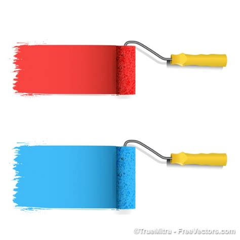 colored paint roller vector clipart panda free clipart images
