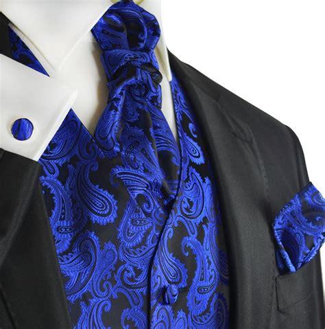46 Tefity Set 3in1 Royalblue royal blue paisley tuxedo vest set by paul malone