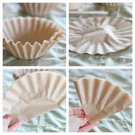How To Make Paper Flowers From Coffee Filters - 25 best ideas about coffee filter roses on