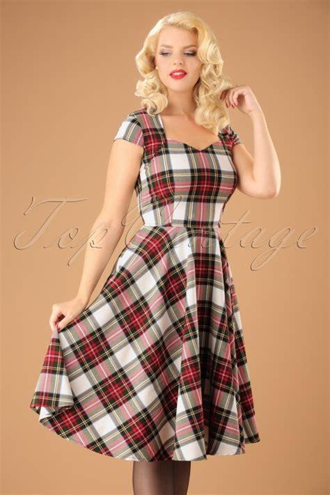 swing tartan dress 50s aberdeen swing dress in stewart tartan