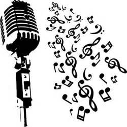 Imagenes Musicales Retro | m 250 sica micr 243 fono retro con notas musicales siluetas