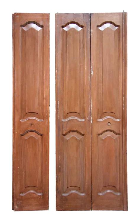 mahogany closet doors antique mahogany folding doors with arched panels olde things