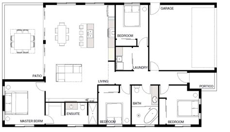 open living house plans 19 perfect images open plan living floor plans home
