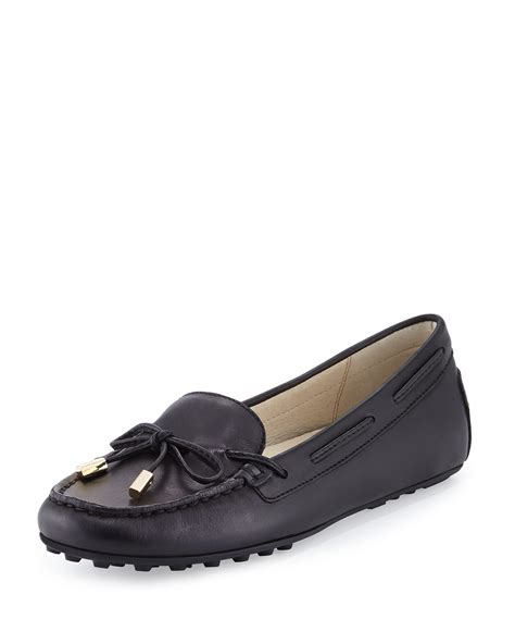 moccasin loafer michael michael kors leather moccasin loafer in
