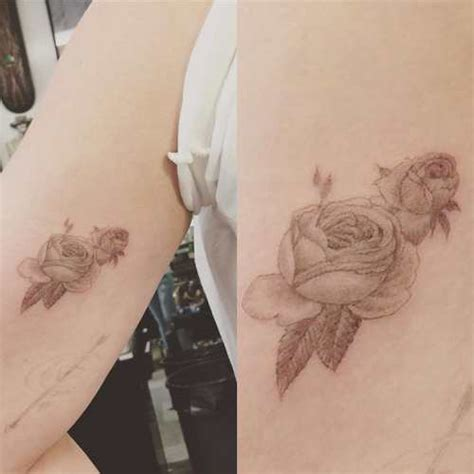 double rose tattoo hilary duff s 15 tattoos their meanings guru