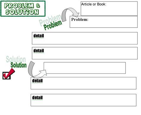 Problem Solution Outline Template by Worksheets Index