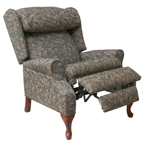 reclining wingback chair slipcovers reclining wing back chairs heathgate high leg recliner