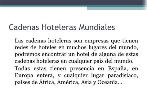 lista de cadenas hoteleras nacionales cadenas hoteleras