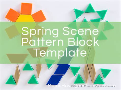 pattern block questions spring scene pattern block template and more pattern block