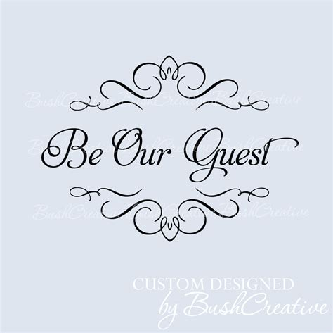 Be Our Guest by Wall Decal Be Our Guest Room 048 By Bushcreative On Etsy