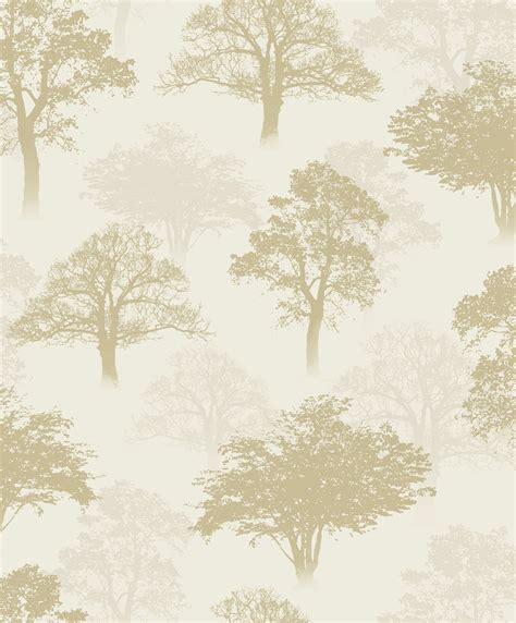 Wallpaper Trees Gold | gold trees wallpaper diy