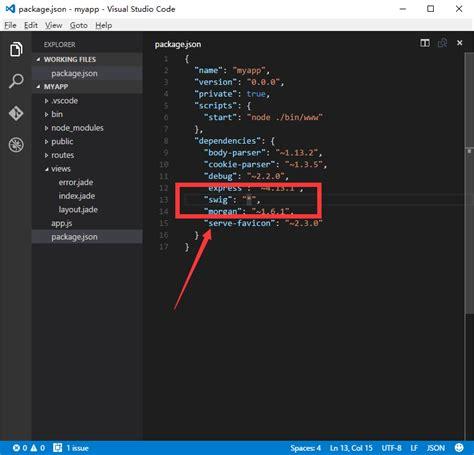 jade js layout crossplaform nodejs in visual studio code 04 swig模版 爱程序网