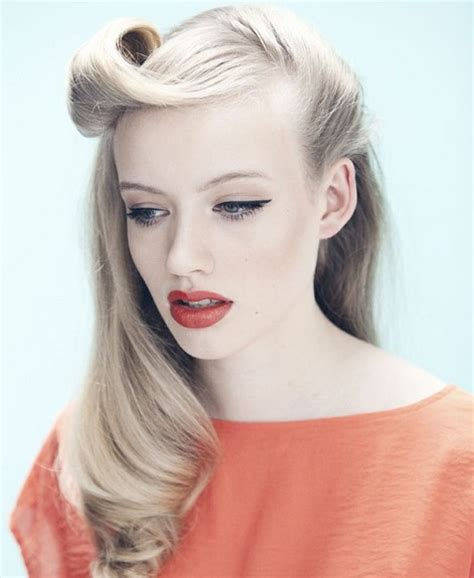 half up half down vintage hairstyles vintage half up half down hair you must try pretty designs
