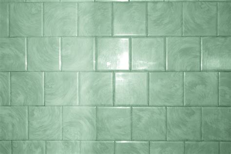 Green Bathroom Tile with Swirl Pattern Texture ? Photos