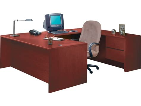 Office Desk U Shaped Hon U Shaped Office Desk With Right Pedestal Credenza Hon 3100r Office Desks