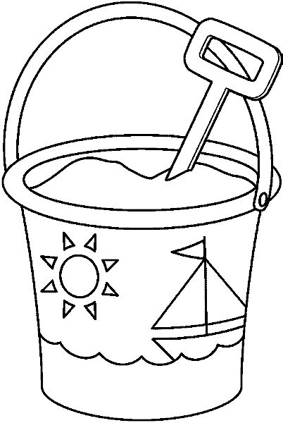 a sand pail coloring pages