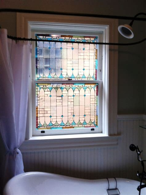 stained glass for bathroom window handmade original stained glass window panels custom
