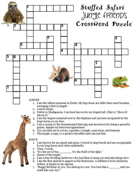 easy crossword puzzles south africa here is a free jungle crossword puzzle compliments of