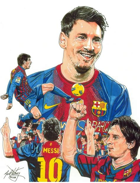 Football Artwork Messi 1 lionel messi 2013