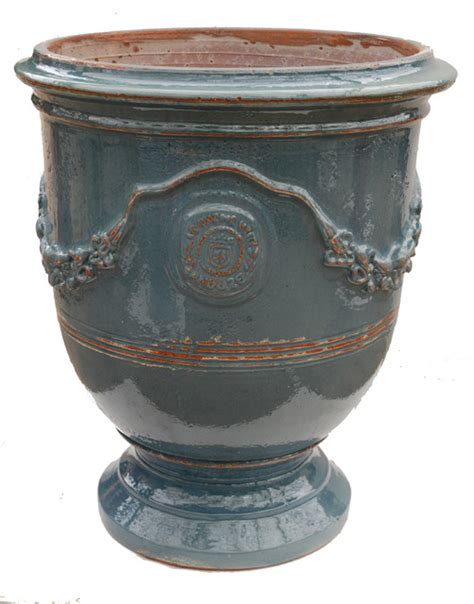 Pots And Vases by Vase Anduze Turquoise Traditional Outdoor Pots