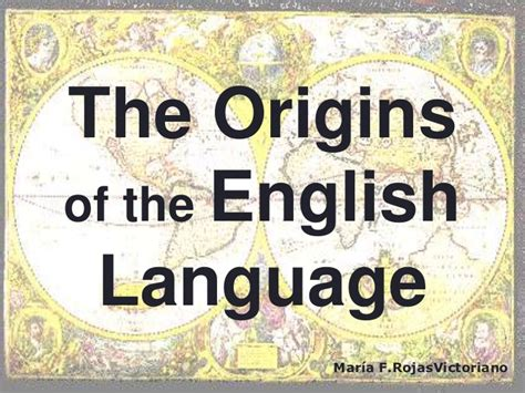 the origins of the english language