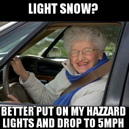 Driving In Snow Meme - she is out there make sure your brakes work safe