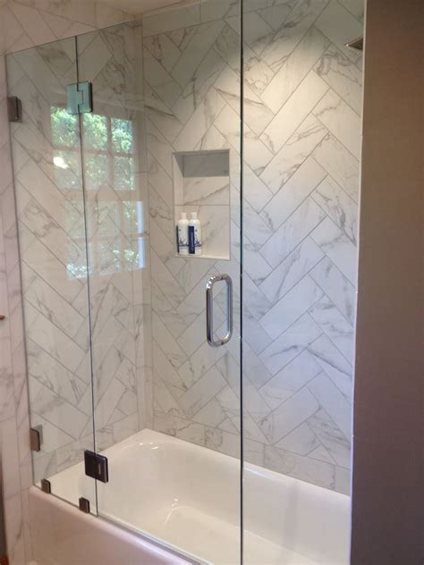 Fixed Panel Shower Door Shower Tub Enclosure Portfolio Ne Glass And Mirrorne Glass And Mirror