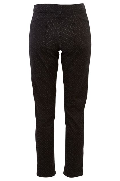 Wst 18831 Black Floral Palazzo Trousers threadz clothing patterned pant womens at birdsnest