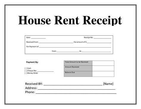 best photos of room rent receipt template in india house