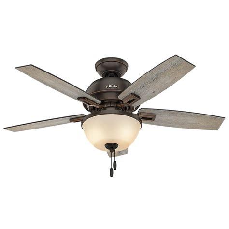 hunter bronze ceiling fan hunter donegan 44 in led bowl indoor onyx bengal bronze