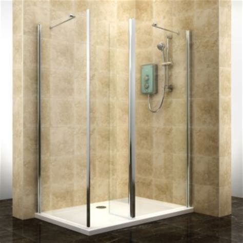 Shower Splashbacks B Q by Cooke Lewis Deluvio Rectangular Shower Enclosure Tray