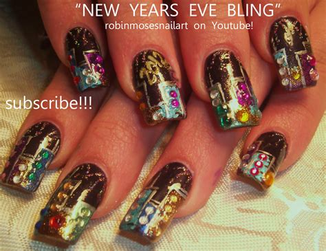 new year nail design robin moses nail december 2011