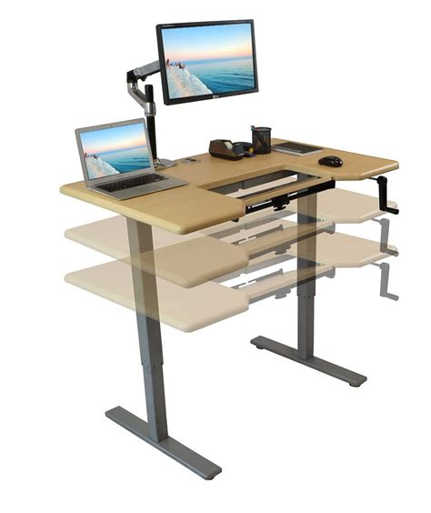 Very Interesting Adjustable Computer Desk Easier To Use Standing Office Desk
