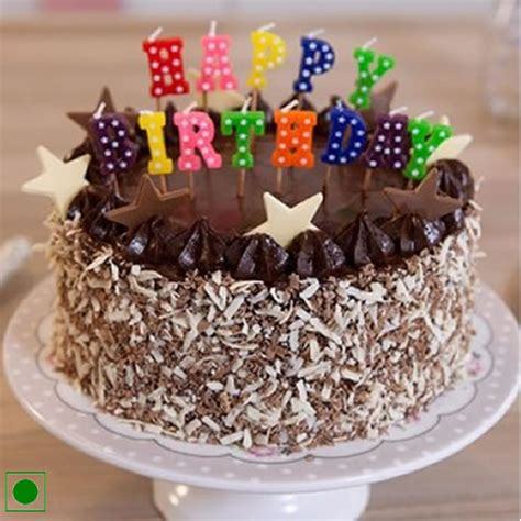 Cake Candle chocolate walnut cake and happy birthday candle 100