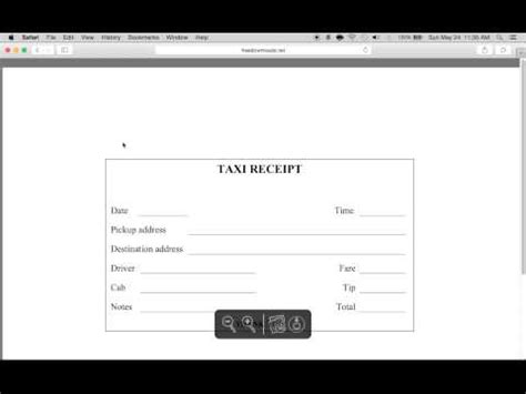 how to write a taxi receipt form pdf template youtube