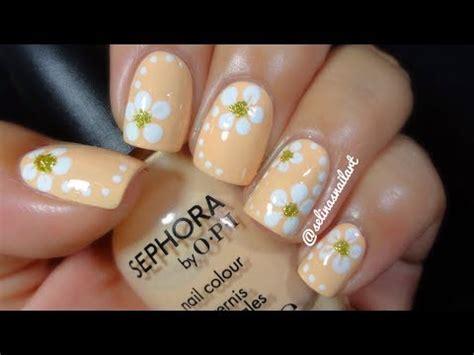tulip flower nail art youtube quick easy flower nail art tutorial selina s nail art