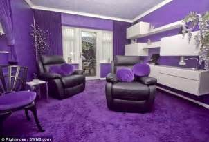 purple rooms ordinary looking house is decorated entirely in purple inside daily mail