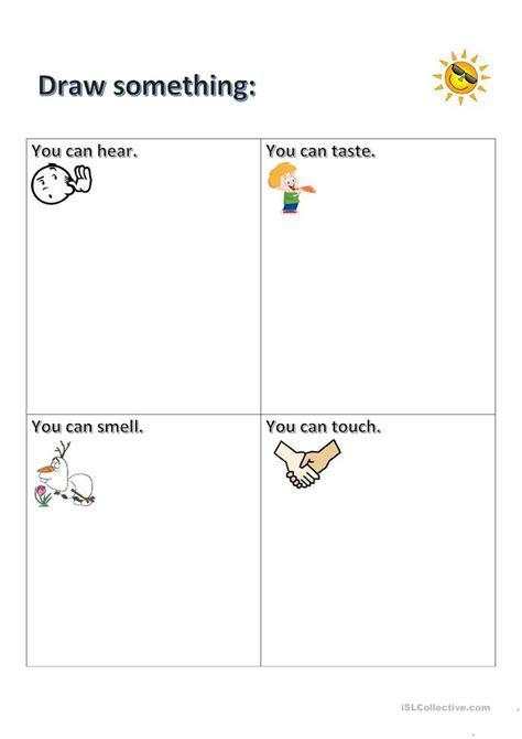 5 senses worksheets five senses worksheet free esl printable worksheets made