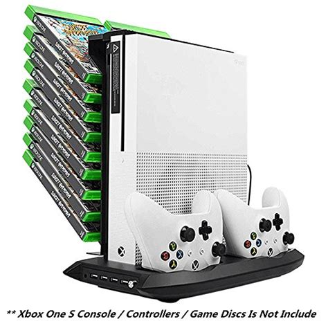 Xbox One S Vertical Stand Fan Controller Charging