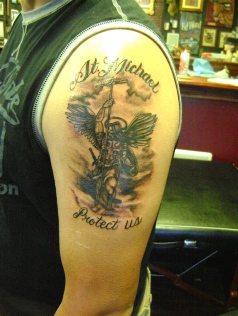 st michael police tattoo 35 best images about rocky on prayer