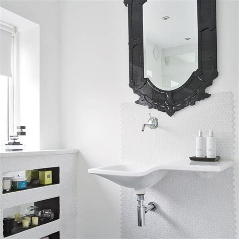 black mirror bathroom white bathroom with black mirror modern bathroom