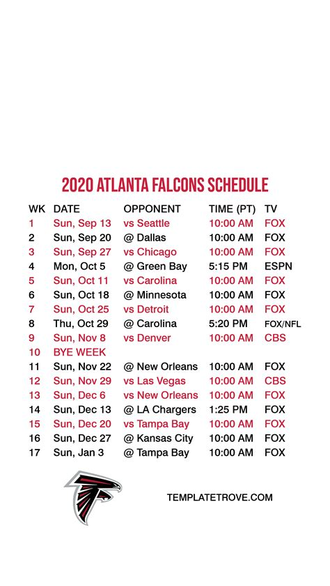 atlanta falcons lock screen schedule  iphone