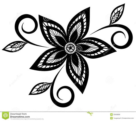 black and design black and white floral pattern design element royalty free stock photos image 29638868