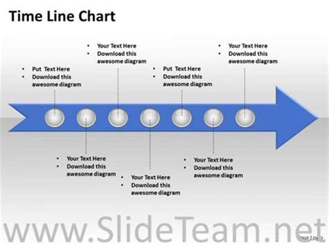 7 staged linear arrow timeline diagram powerpoint diagram