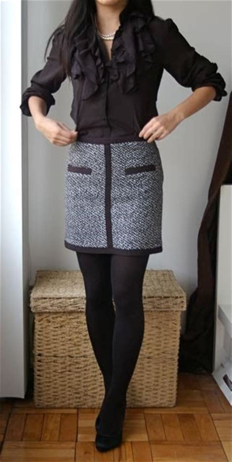 Ruffled Tweed A Line Miniskirt 20 cozy winter 2017 work for styleoholic