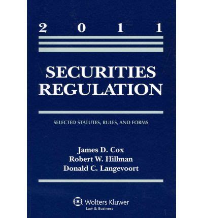 federal securities laws selected statutes and forms books securities regulation