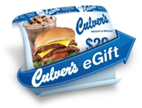 Culvers Gift Card - gift cards culver s