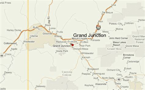 grand junction colorado map grand junction location guide